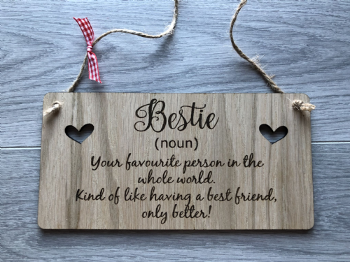 Bestie (noun) Your favourite person in the whole world **PLAQUE**